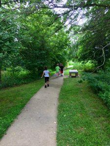 Children Walking In Bear Branch Nature Center