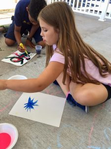 Child Making Abstract Painting